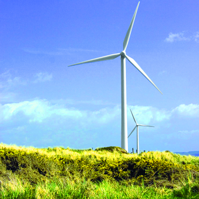 Green investing in wind-powered energy.