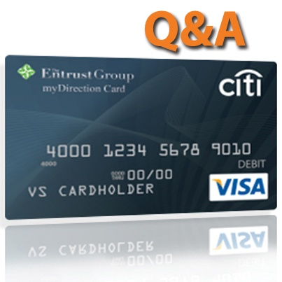 The Entrust Group myDirection Visa Prepaid Card for retirement investment management