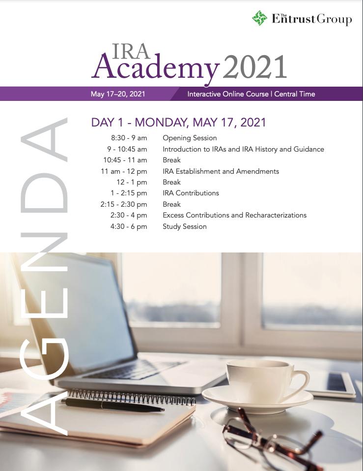 IRA-Academy-2021-Spring-Agenda