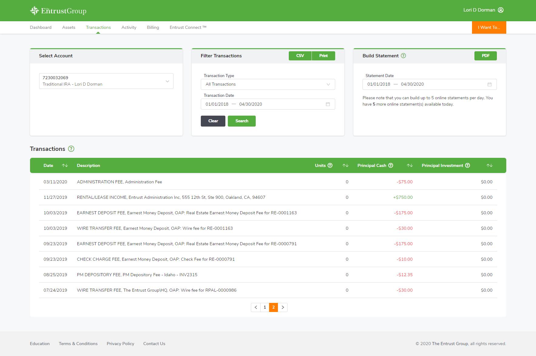 Transactions - Portal